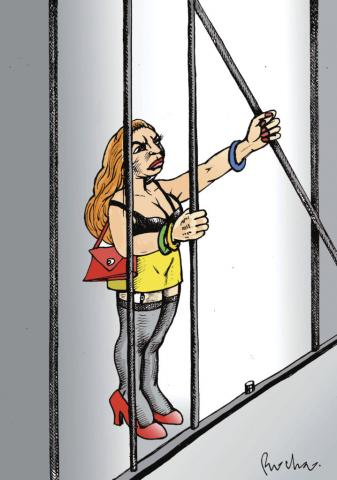 Cartón de Rocha publicado en la revista Proceso