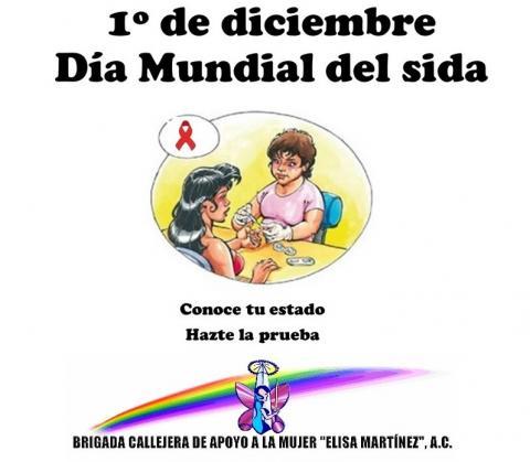 Cartel del día mundial del sida de la Brigada Callejera