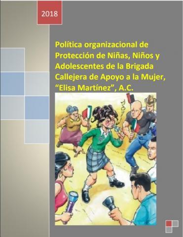 Portada del documento completo de Política organizacional de Protección de Niñas, Niños y Adolescentes de la Brigada Callejera