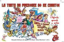 """Postal de la campaña """"La trata no es cuento: disfruta, aprende y actúa: cómics ante la trata."""