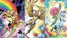 "Personajes de la campaña ""cómics contra la trata"", de Brigada Callejera"