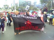 Contingente de trabajadoras sexuales de Brigada Callejera - RMTS