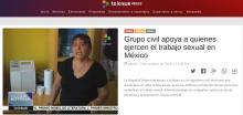 Foto de pantalla de noticia de Telesur